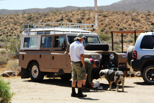 My friends, the Reese's and thier Land Rover