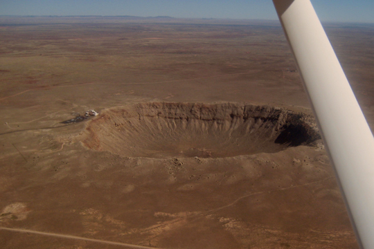 Arizona Meteor Crater from 1000'AGL view 2