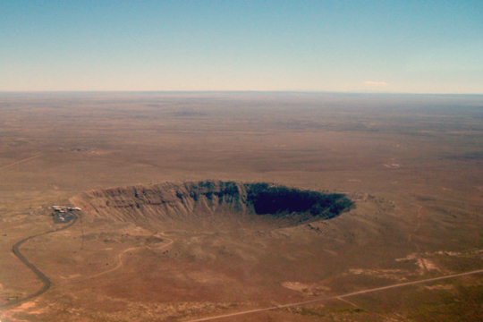 Arizona Meteor Crater from 1000'AGL